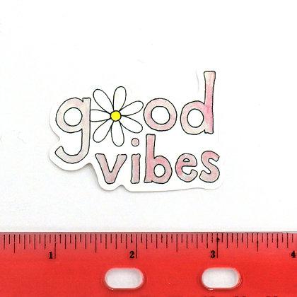 Pink Good Vibes Vinyl Sticker