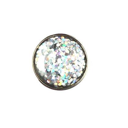 20mm Silver Glitter Snap