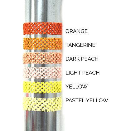 Crocheted Headbands Shades of Orange