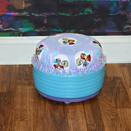 Recycled Frozen Tire Ottoman