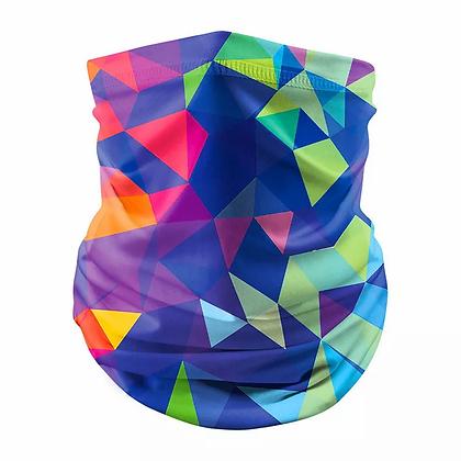 Neck Gaiter Bright Geo Face Mask