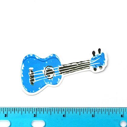 Blue Guitar Vinyl Sticker