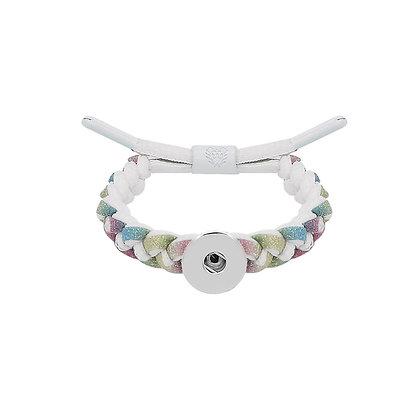 Adjustable Braided White Lace Bracelet