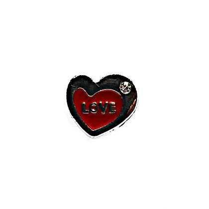 Red Love Heart Slider Charm
