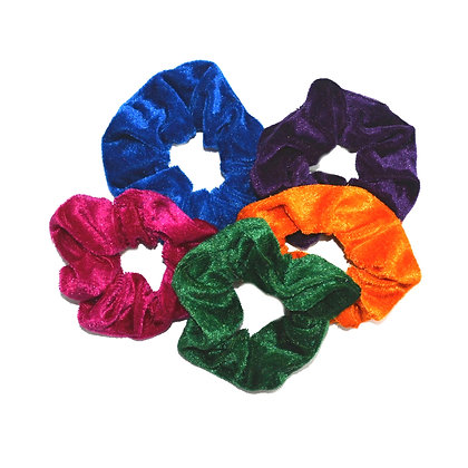 Scrunchies Velvet Jewel Tones Set of 5