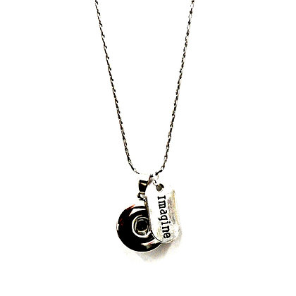 Snap Necklace with Imagine Tag