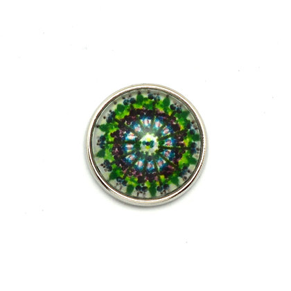 Mandala Lime Green & Purple Snap