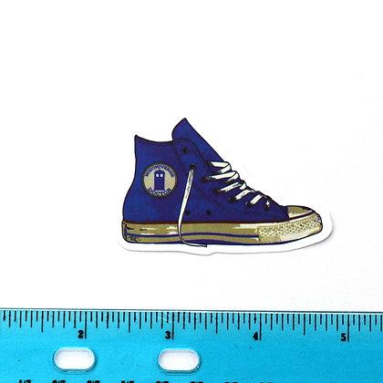 Blue Dr. Who Converse Vinyl Sticker