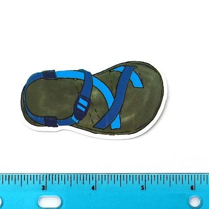 Blue Sandals Vinyl Sticker