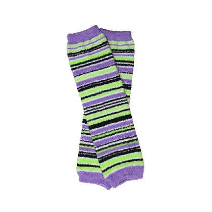 Monster Striped Fuzzy Leg Warmers