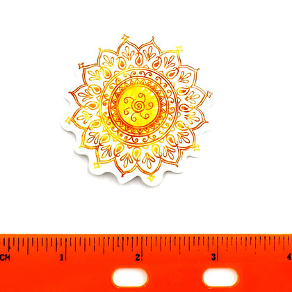 Yellow Mandala Vinyl Sticker