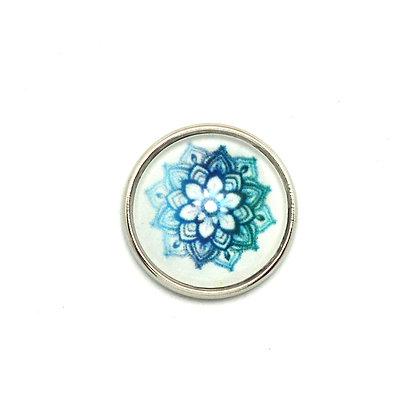 Mandala Blue & Green Flower Snap