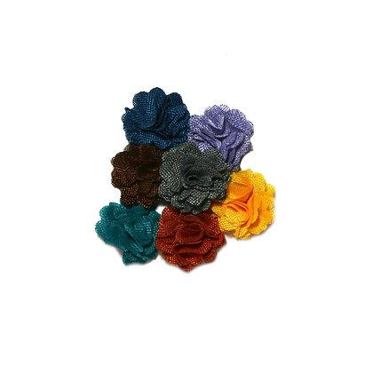 Burlap Flower Hair Clip