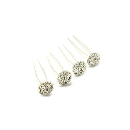 Crystal Cluster Hairpin Set of Four