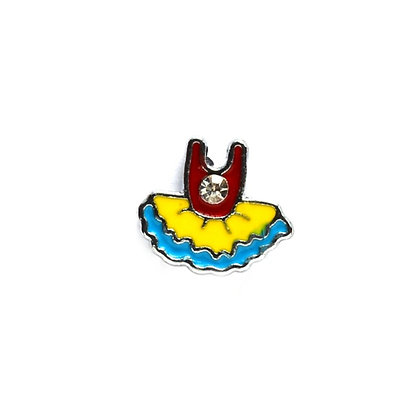 Blue & Yellow Tutu Slider Charm