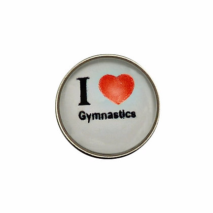 I Heart Gymnastics (Red) Snap