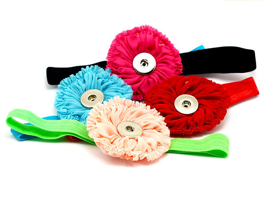 YOU DESIGN Solid Color Headband Chiffon Flower