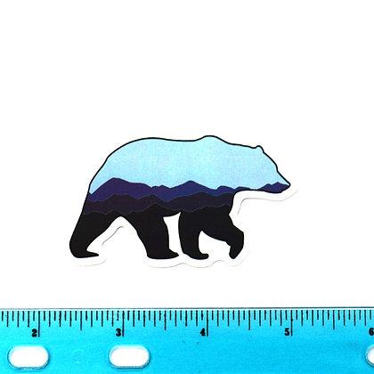 Blue Polar Bear Vinyl Sticker