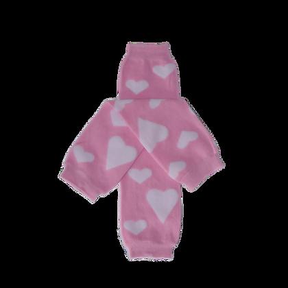 Fluffy Pink Heart Leg Warmers
