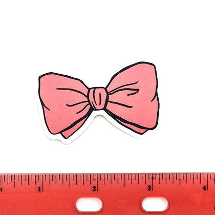 Pink Bow Vinyl Sticker
