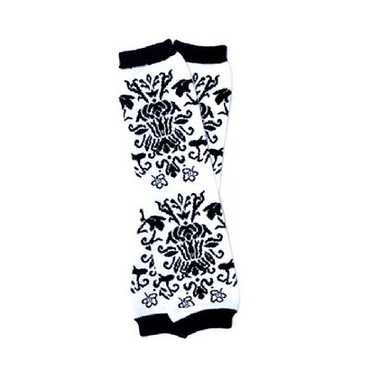 White and Black Demask  Leg Warmers