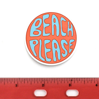 Beach Please Vinyl Sticker