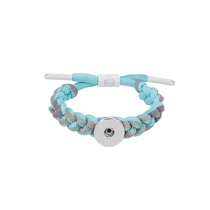 Adjustable Braided Light Blue Lace Bracelet