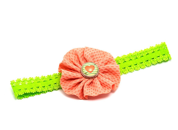 YOU DESIGN Lace Edge Headband With Waffle Flower