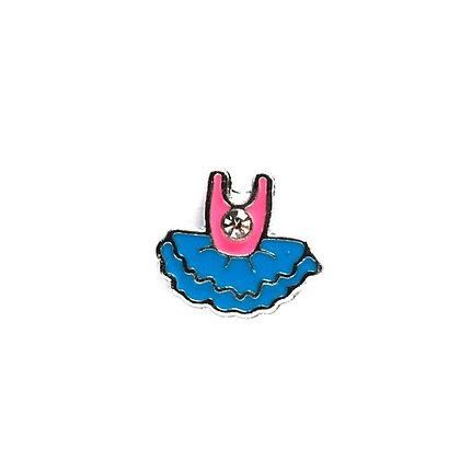 Blue Tutu Slider Charm