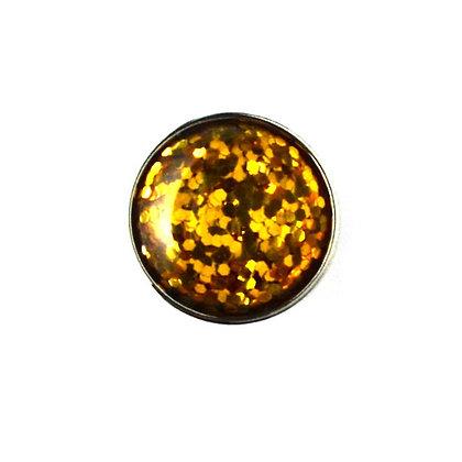 20mm Gold Glitter Snap
