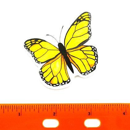 Yellow Butterfly Vinyl Sticker