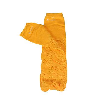 Bright Orange Rouched Leg Warmers
