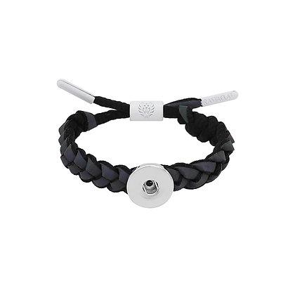 Adjustable Braided Black Lace Bracelet