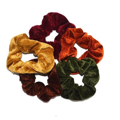 Scrunchies Velvet Autumn Delight Set of 5