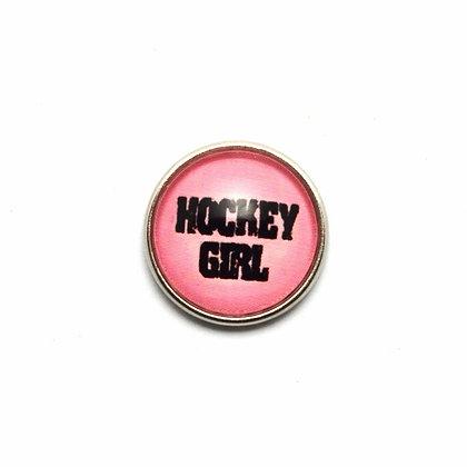 Hockey Girl Pink Snap