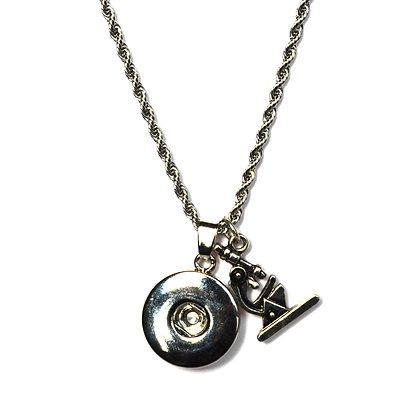 Snap Necklace with Microscope Charm