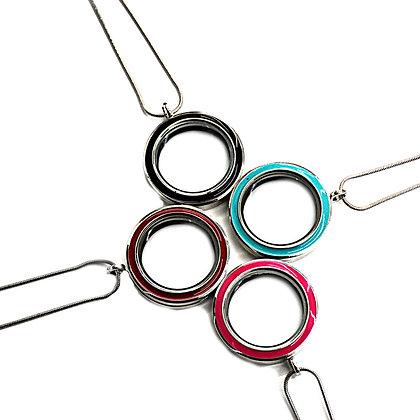 Colored Stainless Steel Twist Top Locket