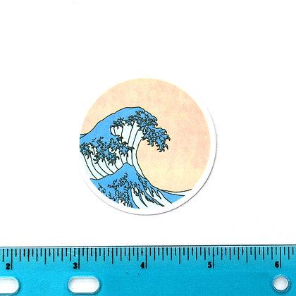 Blue Wave Vinyl Sticker