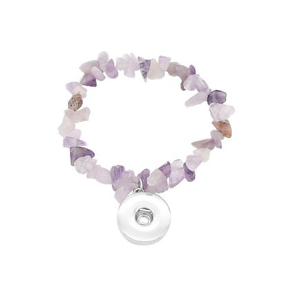 Natural Stone Stretch Bracelet Lavender