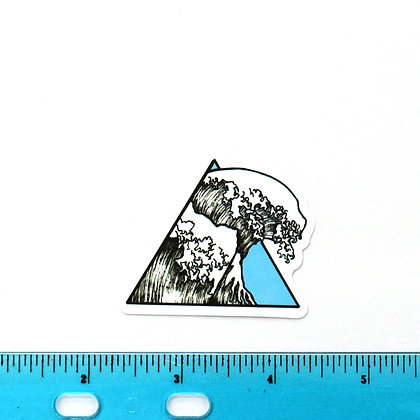 Blue Triangle Wave Vinyl Sticker