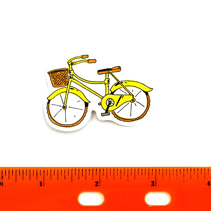 Yellow Bicycle Vinyl Sticker