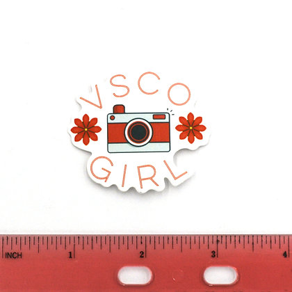 Pink VSCO Girl Camera Vinyl Sticker