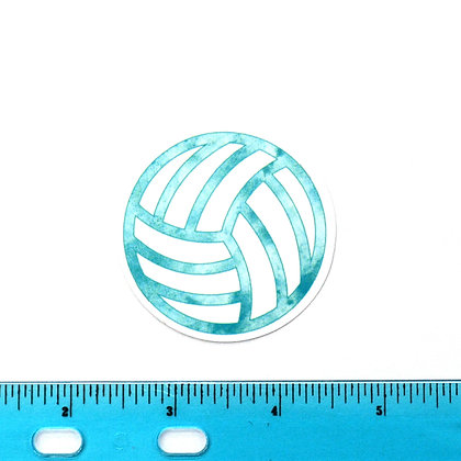 Blue Volleyball Vinyl Sticker