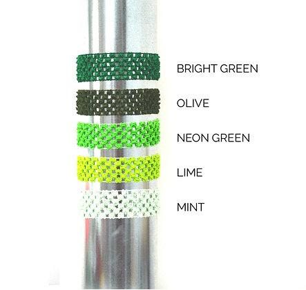 Crocheted Headbands Shades of Green
