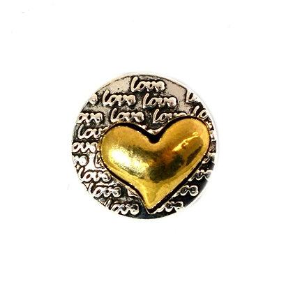 Golden Heart Metal Love Snap