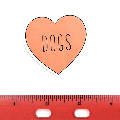 Pink Heart Dog Vinyl Sticker
