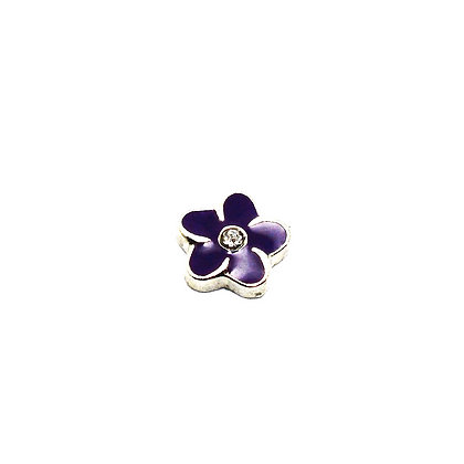 Purple Flower Charm
