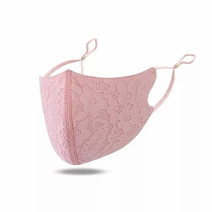 Pink Lace Adjustable Mask