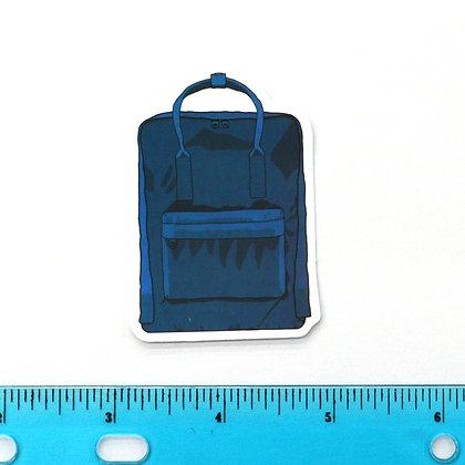 Blue Backpack Vinyl Sticker