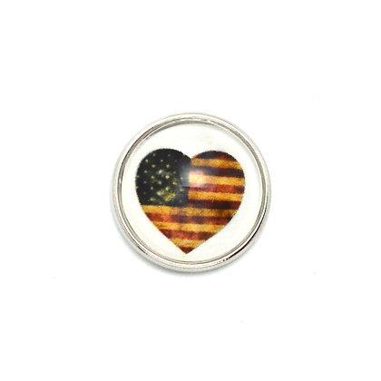 Vintage Heart Flag